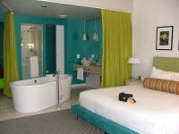 Guestroom at Hotel Valley Ho, Scottsdale, Arizona.