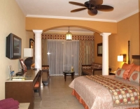 Guest room at Barcelo Maya Palace, Riviera Maya, Mexico.