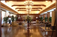Lobby of the Biltmore Four Seasons Hotel, Santa Barbara.