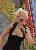 Christina Aguilera belts it out at Disneyland's 50th Anniversary celebration, 2005.
