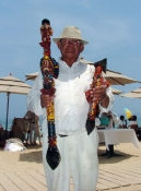 Puerto Vallarta beach vendor.